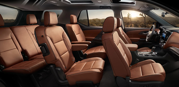 2018 Chevy Traverse Interior Seating