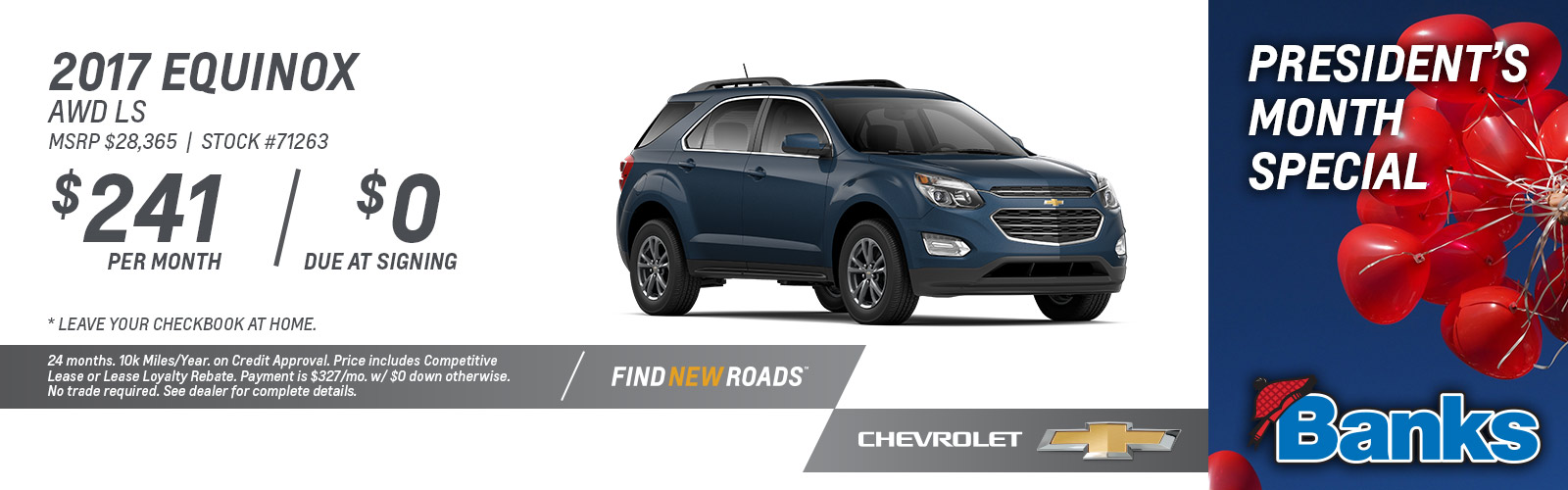 2017 Chevy Equinox LS AWD President's Day Special