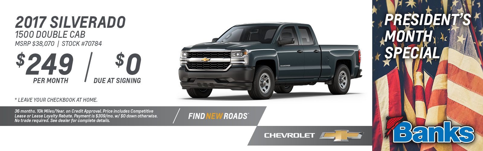 2017 Chevy Silverado 1500 Double Cab President's Day Special