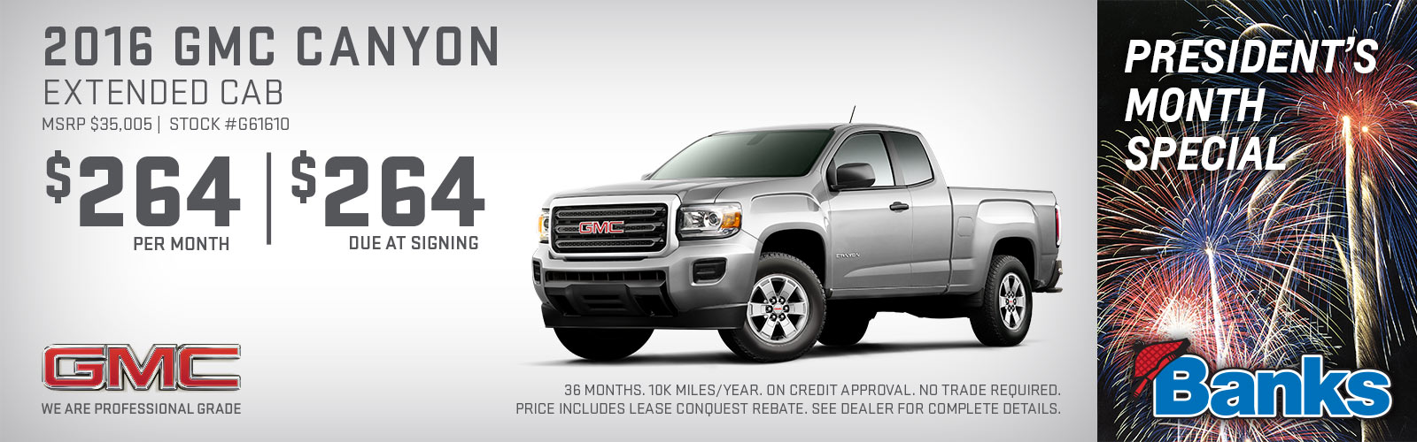 2017 GMC Canyon Extended Cab President's Day Special