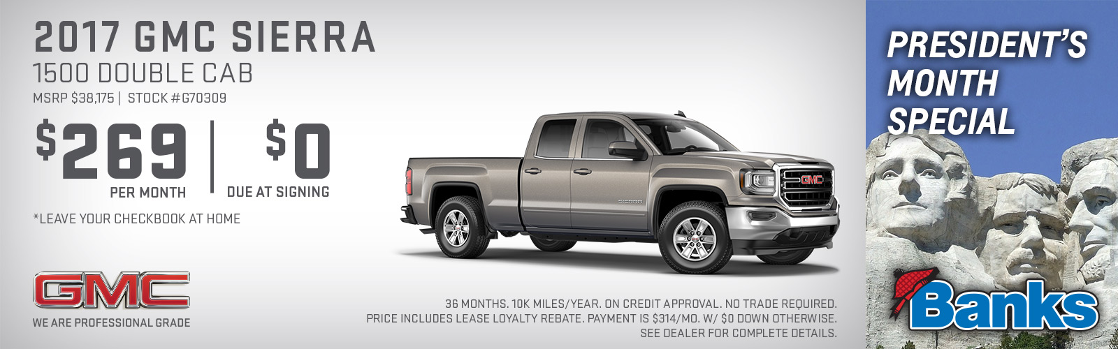 2017 GMC Sierra 1500 Double Cab President's Day Special